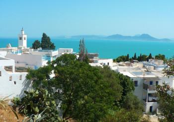 Сиди-Бу-Саид вид сверху, Тунис