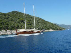 прогулка на яхте в Анталии