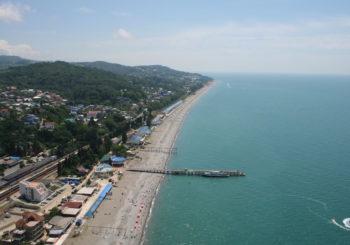 Онлайн веб камера пляж в Лоо, Сочи,