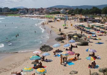 Онлайн веб камера центральный пляж, Лозенец, Болгария