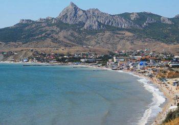 Онлайн веб камера набережная Коктебель, Крым