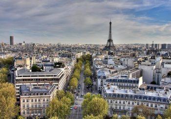 Онлайн веб камера панорама Парижа вид на башню