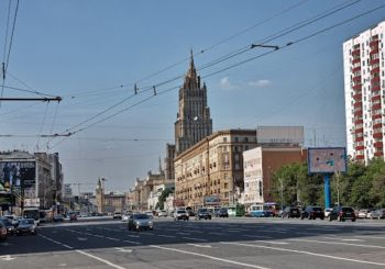 Онлайн веб камера Москвы Смоленский бульвар