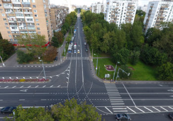 Онлайн веб камера Москвы перекресток Люблинская