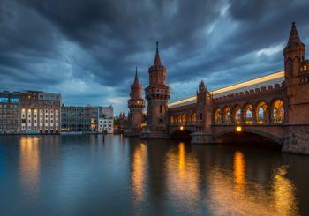 Онлайн веб камера Германия Берлин мост Обербаумбрюкке через реку Шпрее