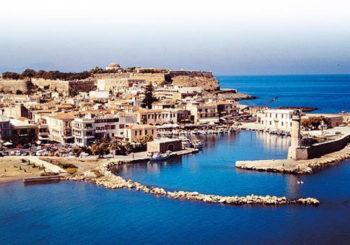 Онлайн веб камера Греция остров Крит порт Ретимно