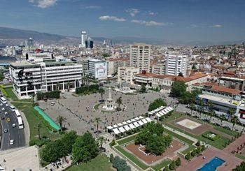 Онлайн веб камера Турция Измир площадь Конак