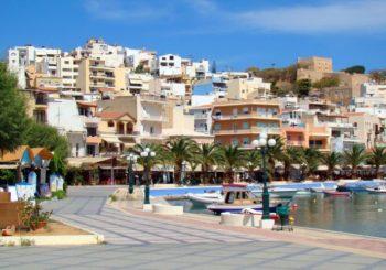 Онлайн веб камера Греция остров Крит набережная Сития