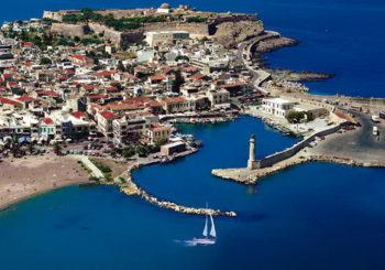 Онлайн веб камера Греция остров Крит проспект Ретимнон