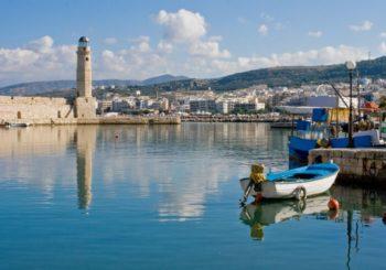 Онлайн веб камера Греции, Крит, Ретимнон, порт