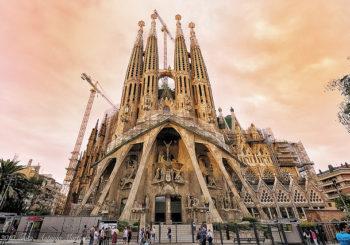 Онлайн веб камера храм Святого Семейства, Барселона,