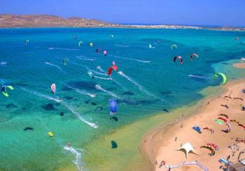 Онлайн веб камера Греция остров Парос пляж Пунта