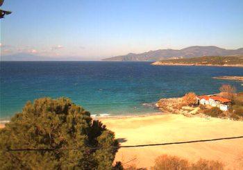 Онлайн веб камера Греция Пелопоннес Ступа пляж Калогриа